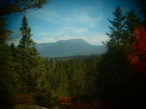 Mt Katahdin from the northern side of the 100 Mile Wilderness, our last real view of the mountain before we were on top of it.