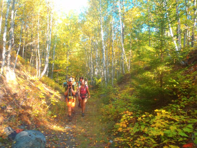You can't be the fall colors in the Maine woods