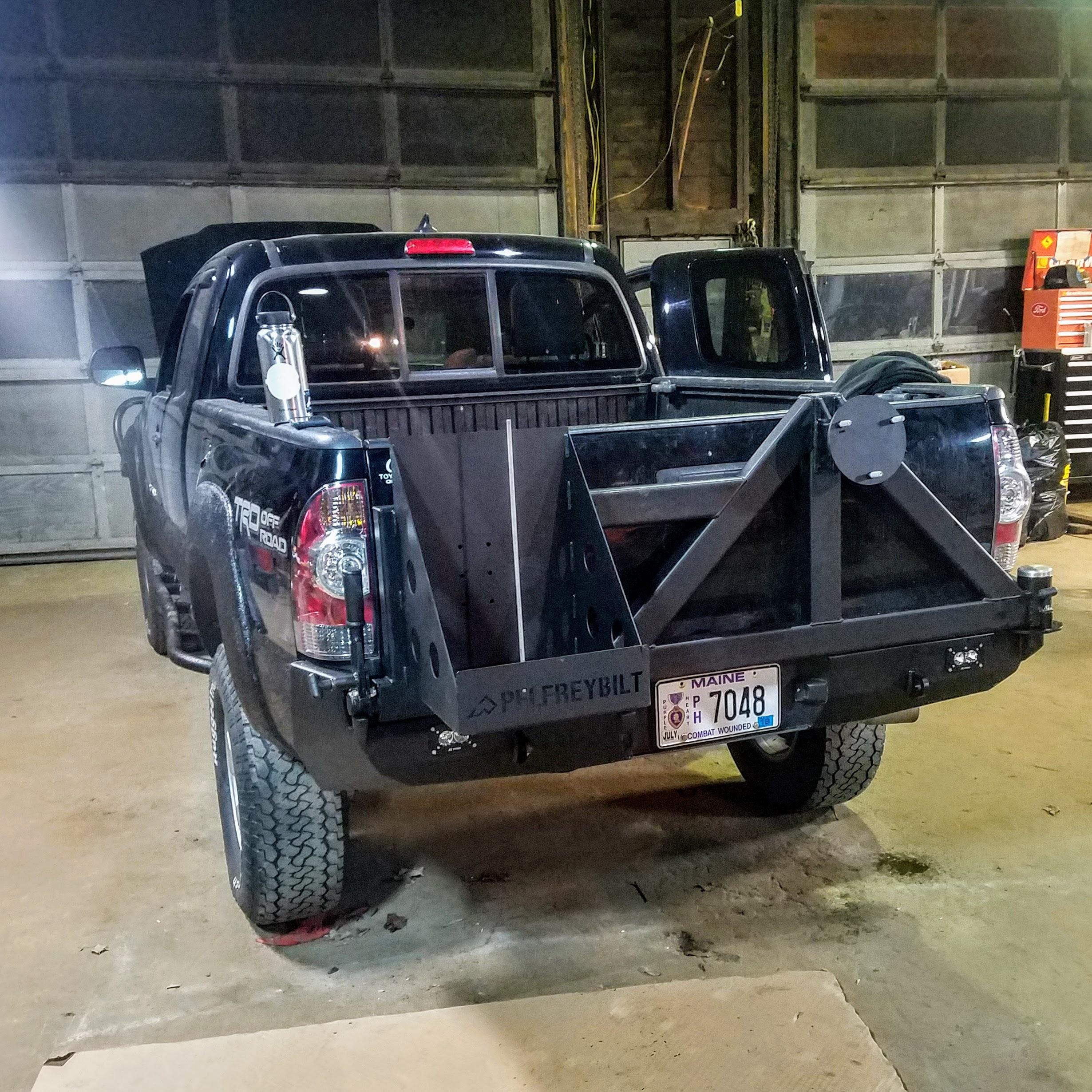 expedition overland truck build bumper installation